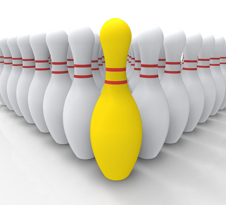 accomplishing: Vision Bowling Skittles Shows Achieving Or Winning