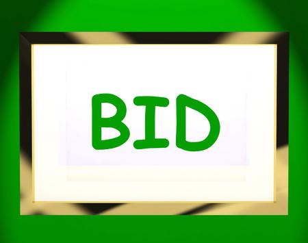 Bid On Screen Showing Bidding Bidder Or Auction