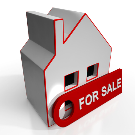 For Sale Sign On Home Shows Selling Property