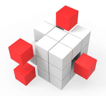 Incomplete Puzzle Shows Achievement Solving Or Completion Stock Photo
