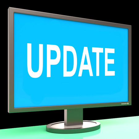 amend: Update Screen Meaning Updates Modified Or Upgrade Stock Photo