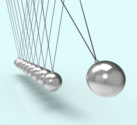 gravity: Newton Cradle Showing Energy Motion And Gravity