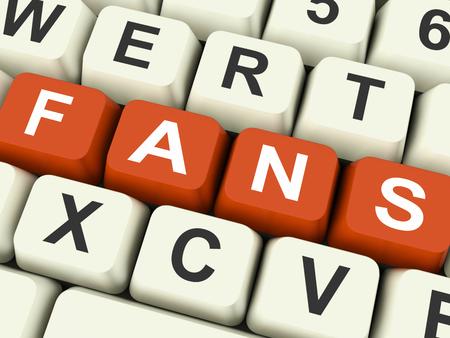 follower: Fans Keys Showing Follower Or Internet Friend