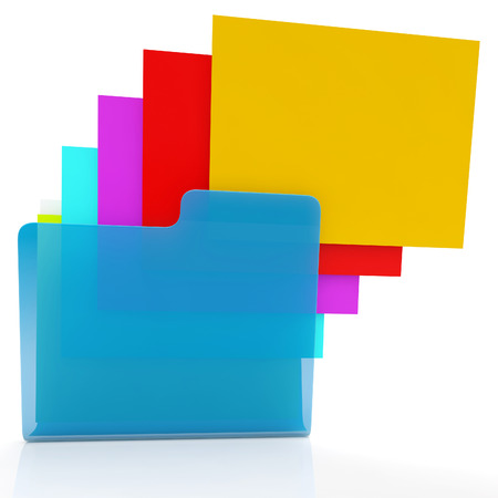 organised: Folders Show Organizing Documents Filing And Paperwork Stock Photo