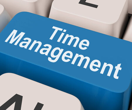 prioritizing: Time Management Key Showing Organizing Schedule Online