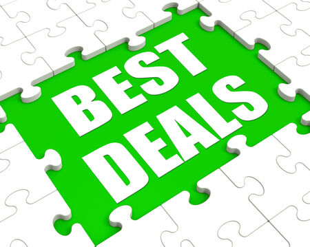great deal: Best Deals Puzzle Showing Great Deal Promotion Or Bargain Stock Photo