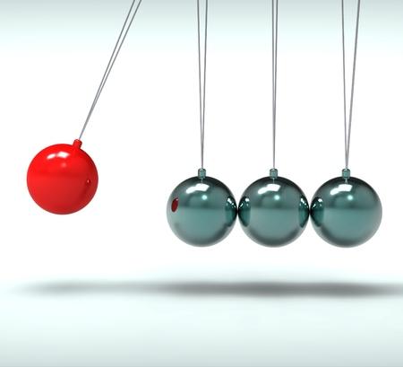 Newton Cradle Affiche Mouvement énergie et d'action