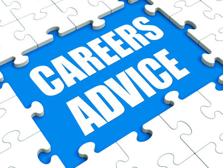 advising: Careers Advice Puzzle Showing Employment Guidance Advising And Assistance