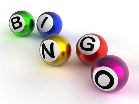 Bingo Game Balls Showing Luck At Lottery