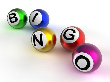 Bingo-Spiel Bälle Angezeigt Glück bei Lotterie