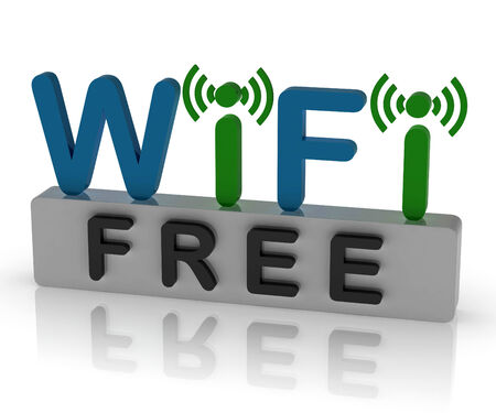 hotspot: Free Wifi Showing Internet Connection And Mobile Hotspot