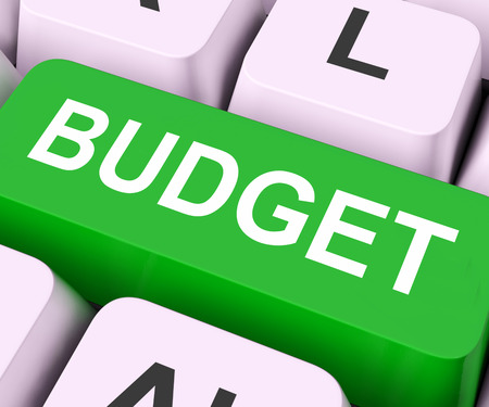Budget Key On Keyboard Meaning Allowance Allocation Or Spending Plan  photo