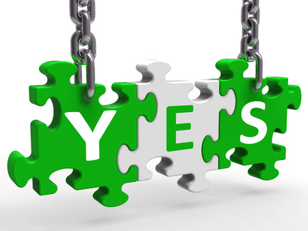 Yes Puzzle Showing Approval Validation And Support Stock Photo - 26065551