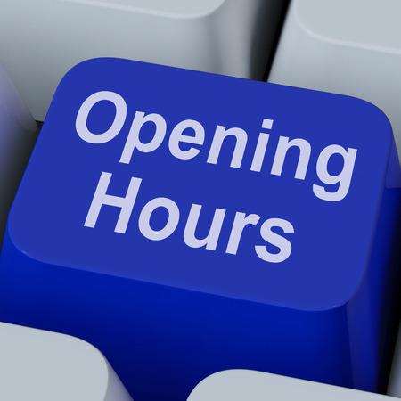 Openingstijden Key Toont Retail Business Open