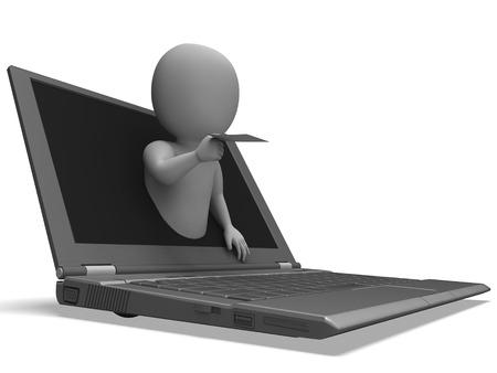 correspond�ncia: Email De Laptop Mostrando correspond�ncia e de Divulga��o
