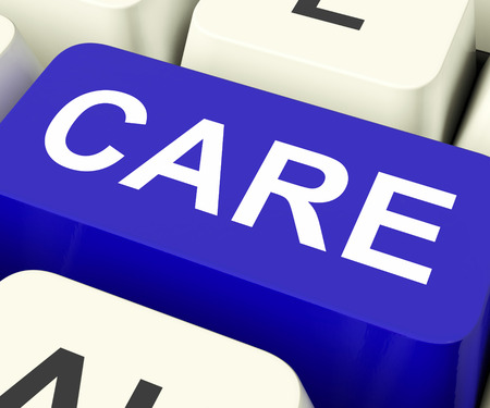 look after: Care Keys Showing Concern Or Look After