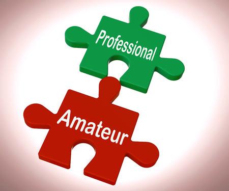 amateur: Puzzle Adulto Profesional Mostrando Expert Y Aprendiz