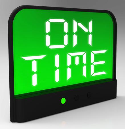 punctual: El reloj de tiempo Significado Puntual Y No Late