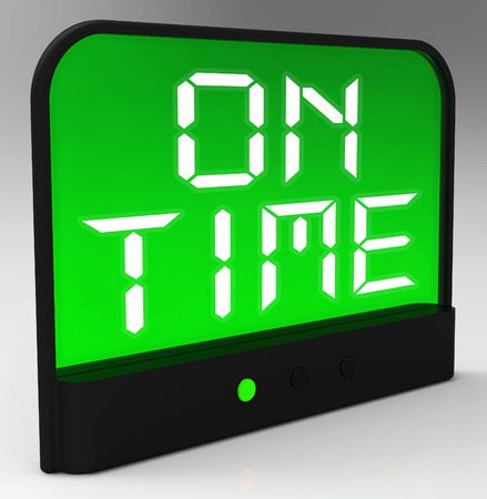 punctual: On Time Clock Meaning Punctual And Not Late