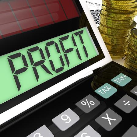 surplus: Profit Calculator Showing Surplus Earnings And Returns Stock Photo