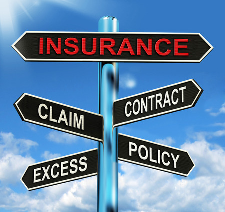 insurance policy: Insurance Signpost Meaning Claim Excess Contract And Policy