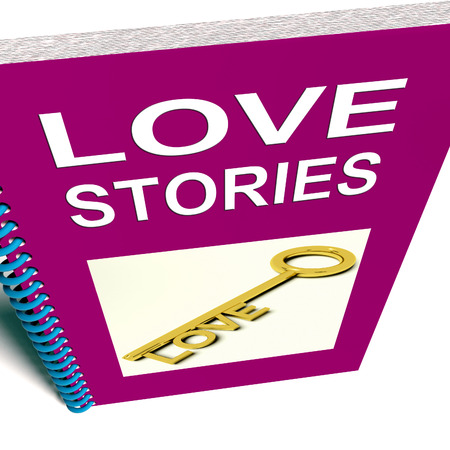narrative: Love Stories Book  Gives Tales of Romantic and Loving Feelings Stock Photo