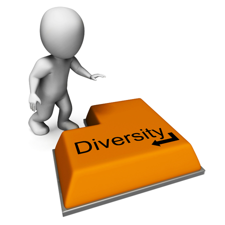 variance: Diversity Key Meaning Multi-Cultural Range Or Variance Stock Photo