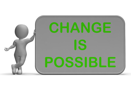 revise: Change Is Possible Sign Meaning Rethink And Revise