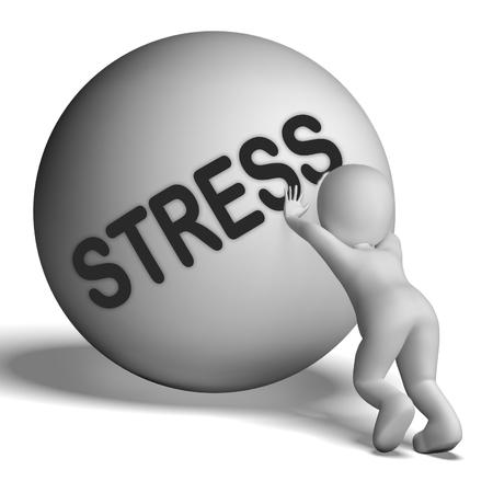 Stress Caractère Uphill Affichage tension et la pression