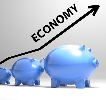 pick money: Econom�a Flecha Significado Sistema Econ�mico y Hacienda Foto de archivo