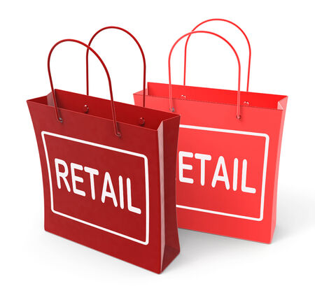 merchandiser: Retail Bags Showing Commercial Sales and Commerce