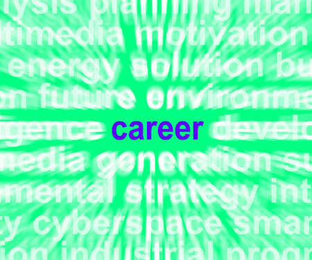 Career Word Meaning Job Profession Or Occupation photo