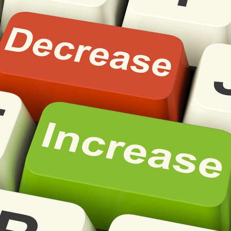 decreased: Decrease Increase Keys Showing Decreasing Or Increasing