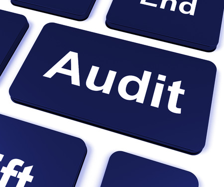 Audit Key Showing Auditor Validation Or Inspection Stock Photo - 26065770
