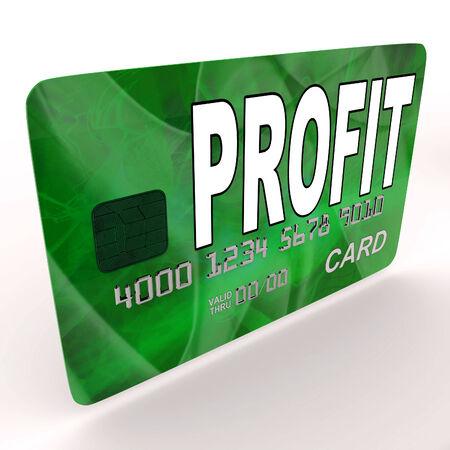 lucrative: Profit on Credit Debit Card Showing Earn Money