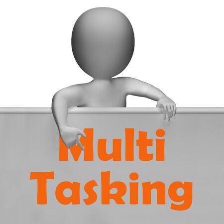 simultaneously: Multitasking Sign Meaning Doing  Multiple Tasks Simultaneously Stock Photo