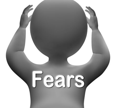 concerns: Fears Character Meaning Worries Anxieties And Concerns Stock Photo