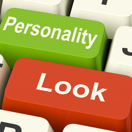 superficial: Look Personality Keys Showing Character Or Superficial