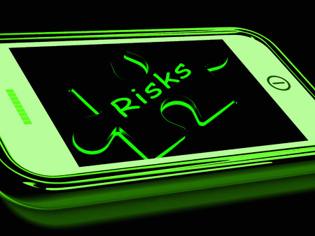 unpredictable: Risks Smartphone Showing Unpredictable And Risky Investment