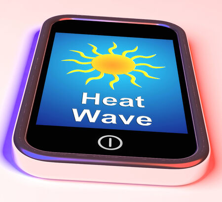heat wave: Heat Wave On Phone Meaning Hot Weather