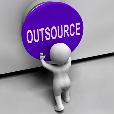 outsource: Outsource Button Meaning Freelancer Or Independent Worker