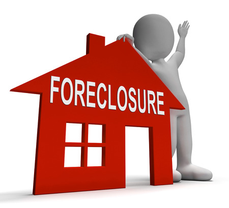 repossession: Foreclosure House Showing Repossession And Sale By Lender