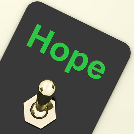 wanting: Hope Switch Showing Wishing Hoping Wanting Stock Photo
