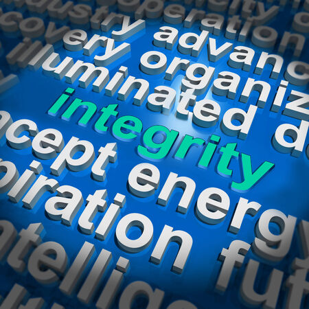 uprightness: Integrity Word Cloud Showing Honesty Morality And Trust