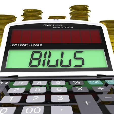 payable: Bills Calculator Showing Accounts Payable And Due