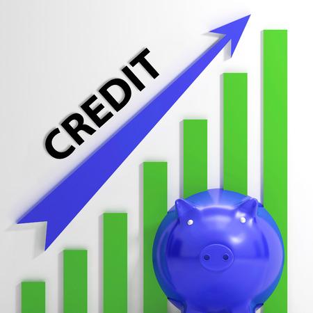 Graphique de crédit Signification financement de prêt et des remboursements Banque d'images