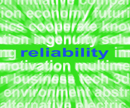 Reliability Word Meaning Honest Trustworthy And Dependable Stock Photo - 26066038