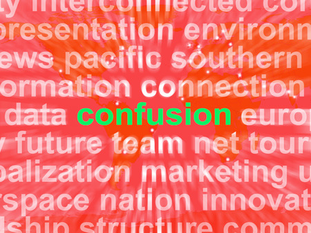 Confusion Word Cloud Meaning Confusing Confused Dilemma photo