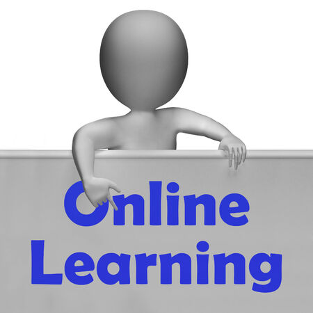 extramural: Online Learning Sign Meaning E-Learning And Internet Courses Stock Photo