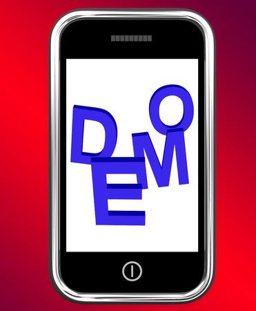 beta: Demo On Phone Mostro Sviluppo Or Beta Version Archivio Fotografico